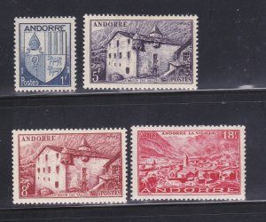 Andorra French 114, 118, 120, 122 MH Various