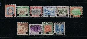 NIUE SCOTT #106-115 1967 SURCHARGES- MINT XXXLIGHT HINGED