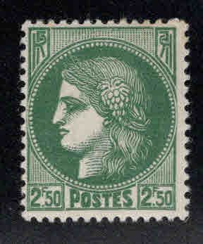 France Scott 338 MH* Ceres stamp from 1938-1940 set