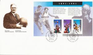 1991 Canada FDC Sc 1344 - Basketball (oversized)