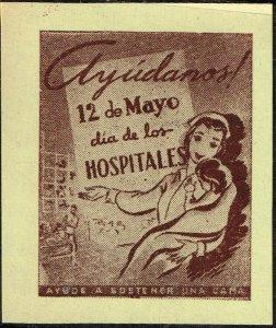 CUBA STAMP VIÑETAS CINDERELLA. 1950  HOSPITAL  MEDICINE NURSE MNH LOT #6