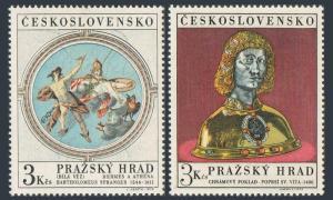 Czechoslovakia 1689-1690,MNH.Michel 1943-1944. Prague Castle Art,1970.St Vitus,