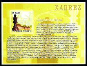 [96748] Sao Tome & Principe 2007 Sport Chess Imperf. Sheet MNH