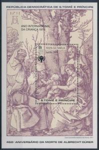 Sao Tomé e Príncipe stamp International childrens year block MNH 1979 WS201192