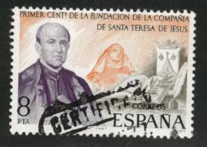 Spain Scott 2044 Used St. Theresa 1977 stamp