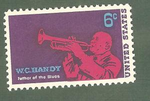 1372 W.C.Handy US Single Mint/nh (Free shipping offer)