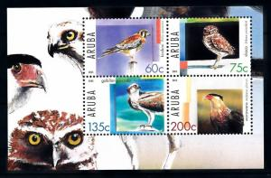 [94168] Aruba 2005 Birds of Prey Owl Falcon Sea Eagle Sheet MNH