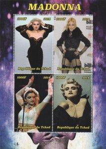 Tchad 2014 Madonna Singer Dancer Actress Africa 4v 1000F S/S MNH