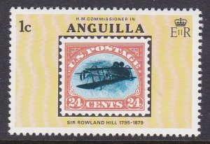 Anguilla #350 single F-VF Mint NH ** Sir Rowland Hill, Stamp on Stamp
