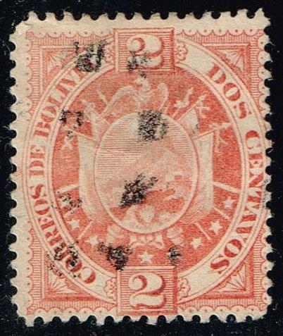Bolivia #41 Coat of Arms; Used (2.25)