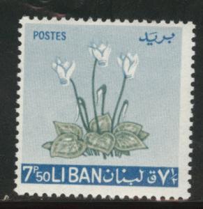 LEBANON Scott 422 MH* 1964 Flower stamp