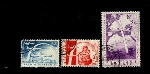 Belgium 1960 Planes & Rainbow Set Scott B669-B671 3 Stamps F