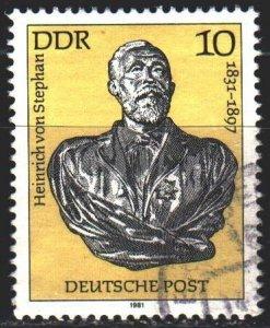 GDR. 1981. 2579. Stefan, mail. USED.