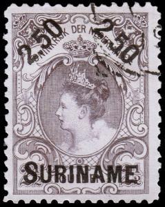 Surinam Scott 38 (1900) Used H F-VF, CV $12.50 B