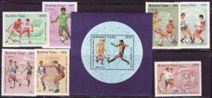 Burkina Faso - World Cup Soccer on Stamps BUR681-8