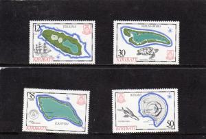 Kiribati 1983 Island Maps 3rd series MNH