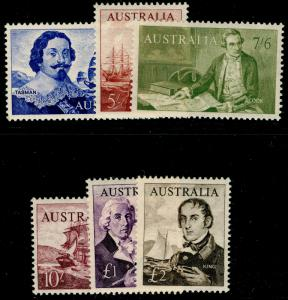 AUSTRALIA SG355-360, COMPLETE SET, NH MINT. Cat £120.