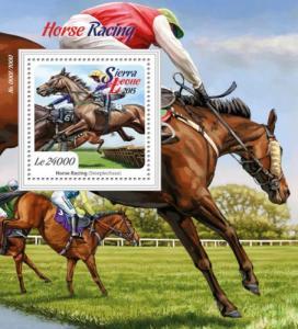 Sierra Leone MNH S/S Horse Racing 2015