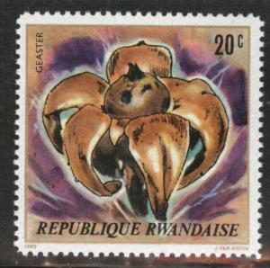 RWANDA Scott 975 MNH** 1979 mushroom stamp