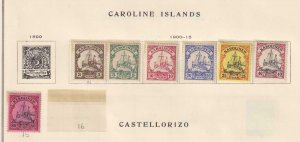 CAROLINE ISLANDS  INTERESTING COLLECTION REMOVED FROM ALBUM PAGES - Y916
