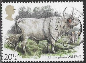 Great Britain 1045 Used - Cattle - Chillingham Wild Bull - SON