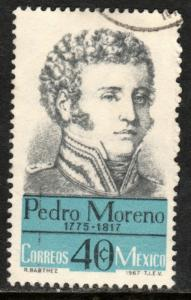 MEXICO 987, Pedro Moreno Hero War for Independence Used (1226)