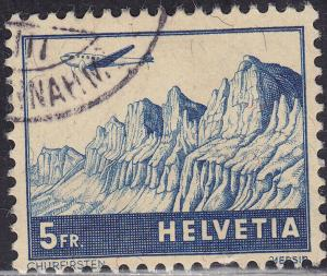 Switzerland C34 Hinged 1941 Churfirsten Mountains