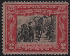 Scott 651 2c George Rogers Clark