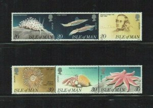 Isle of Man: 1994, Europa, Discoveries, Forbes, Marine Biologist,   MNH set