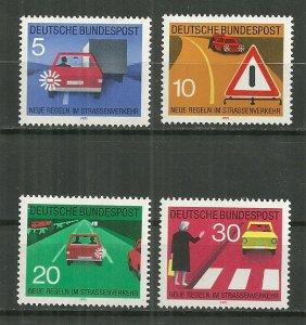 1971 Germany 1059-62 New Traffic Rules C/S MNH