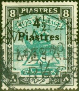 Sudan 1940 4 1/2p on 8p Emerald & Black SG80 Fine Used