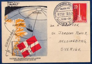 Denmark Sc 262  Cover DANSK NORDOSTGRONLANDS EKSPEDITION.1938-1939 TO NORDPOL VF
