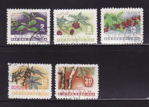 North Vietnam 190-194 Set U Plants, Crops
