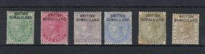Somaliland QV 1903 Collection To 6 Annas SG1/7 MH JK884
