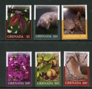 GRENADA 2018 INDIGENOUS PLANTS & WILDLIFE SET OF SIX HIGH VALUES  MINT NH