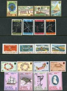 GILBERT IS. Sc#304-311, 313-324 1977-79 Five Complete Sets OG Mint NH