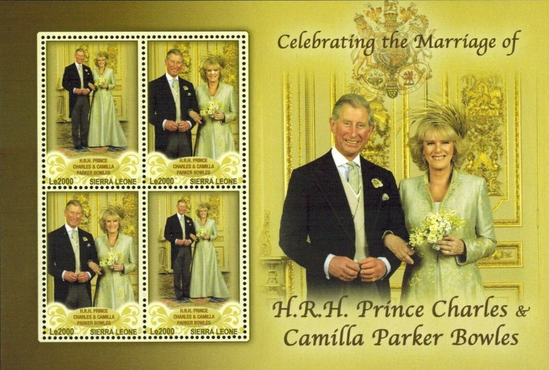 Sierra Leone MNH S/S Prince Charles & Camille's Wedding
