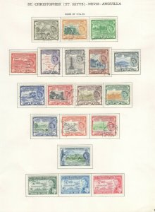 St. Kitts-Nevis-Anguilla Stamps 1954-58 Approx. CV. $45 (JH 9/22) GP