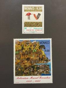 Monaco #2068-2069 VF MNH. Scott $ 5.25
