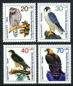 Germany Berlin MNH 9NB97-100 Birds Of Prey 1973