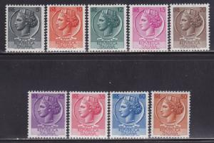 Italy Scott # 626-633 VF never hinged nice colors scv $ 150 ! see pic !