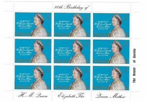 Tristan da Cunha 1980 Queen Mother Elizabeth Birthday Sheet MNH C1