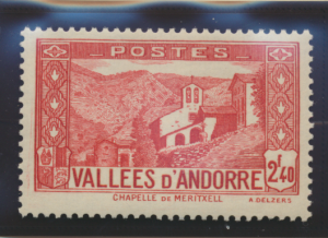 Andorra (French Administration) Stamp Scott #58A, Mint Lightly Hinged - Free ...