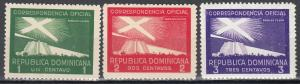 Dominican Republic, Sc # O18-O20, MH,1939, Proposed Lighthouse