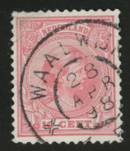 Netherlands Scott 43 used 1894 issue CV$1.60