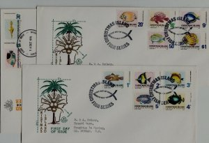 Christmas isl. 22-33 FDC Fishes