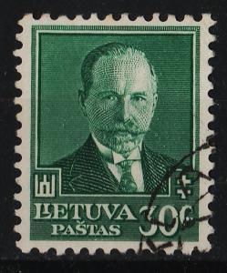 Lithuania 1934 60th Birthday of President Antanas Smetona 30c (1/3) USED