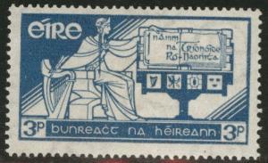 Ireland Scott 100 MH* 1937 key 3p constitutuion stamp CV$6
