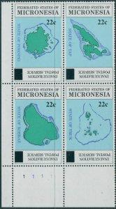 Micronesia 1986 SG51-54 Maps corner block set MNH