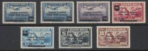 Costa Rica 1941 Panama Border Dispute Complete Set MNH. Scott C67-73